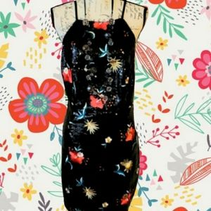 ☆ SEXY ☆ EMBROIDERED JET SEQUIN DRESS 3x NWT